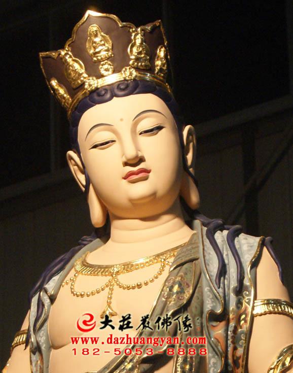 铜像八大菩萨之普贤菩萨彩绘佛像特写