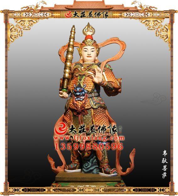 铜雕护法神韦驮菩萨