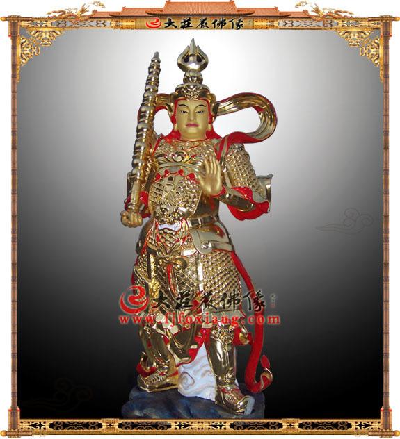 铜雕贴金韦陀菩萨