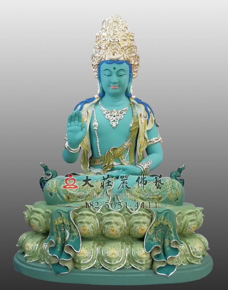 铜雕金刚界五方佛之不空成就佛彩绘贴金佛像