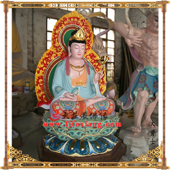 铜雕西方三圣之大势士