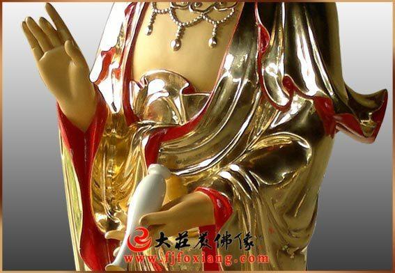 铜雕西方三圣(铜雕观音)