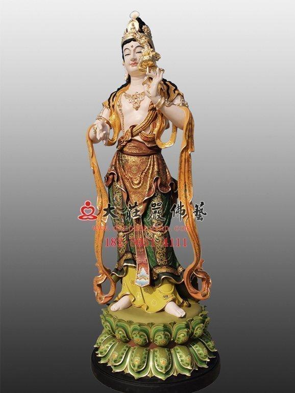 三十三观音之龙头观音彩绘佛像
