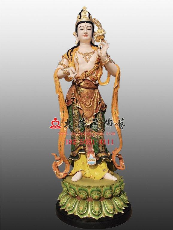 龙头观音铜佛像 乘龙观音雕塑 三十三观音佛像定制