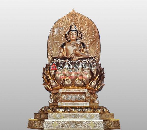 日光菩萨铜像 东方三圣佛像