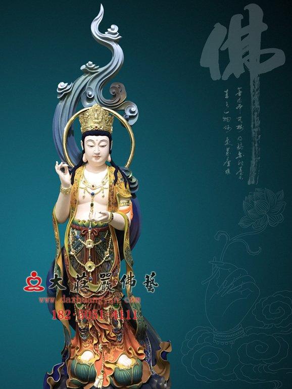 大势至菩萨 大精进菩萨 西方三圣铜雕佛像