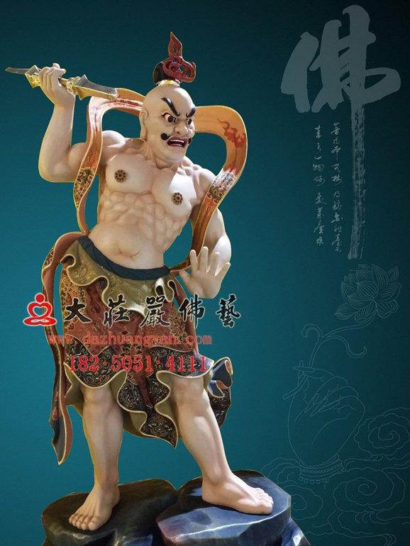 哈将铜佛像 佛教护法神将金刚力士哼哈二将