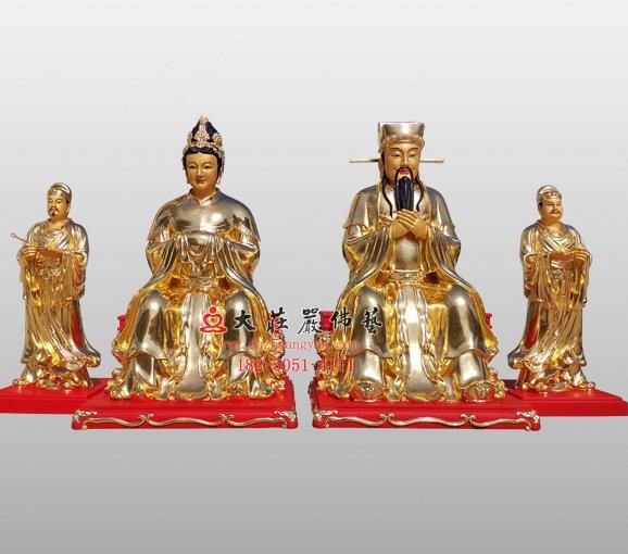 社公社婆铜雕神像 道教神像定制