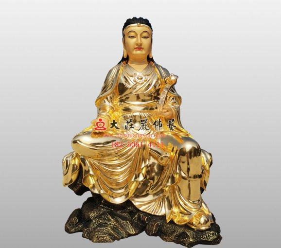 波斯匿王铜佛像 伽蓝菩萨铜佛像定制