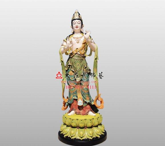 文殊菩萨之胁侍铜佛像