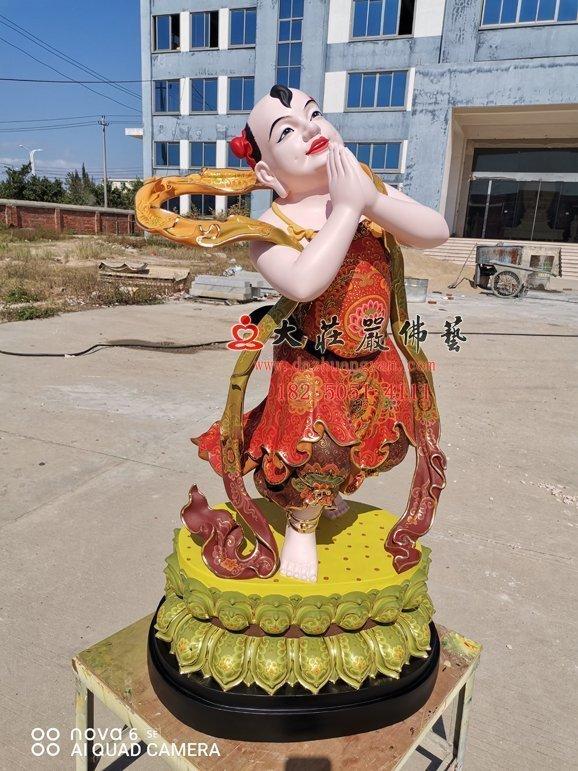 文殊菩萨弟子铜佛像