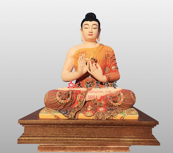 鹿野苑說法相 釋迦牟尼佛銅佛像
