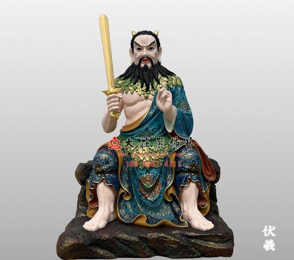 伏羲神像 铜雕青帝神像 人祖伏羲雕塑定制