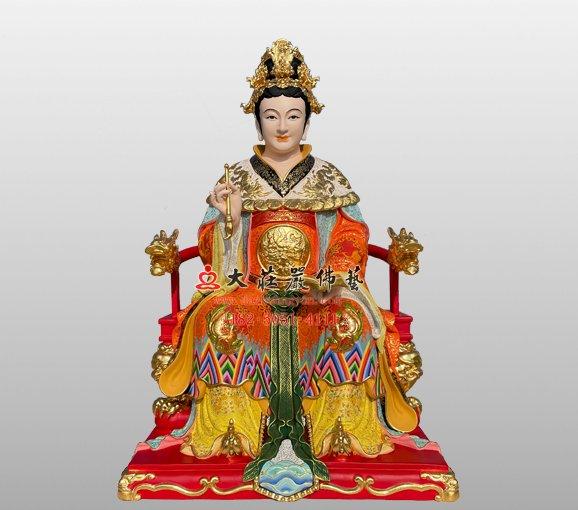 九天玄女弟子铜雕神像 铜雕道教神像定制