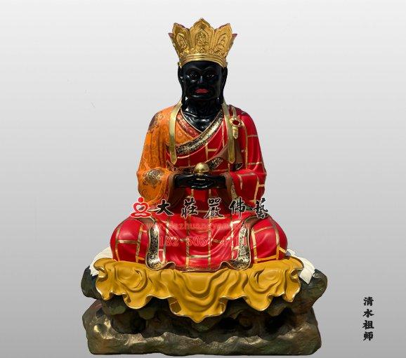 清水祖师铜像 麻章上人 黑面祖师 清水真人雕塑定制