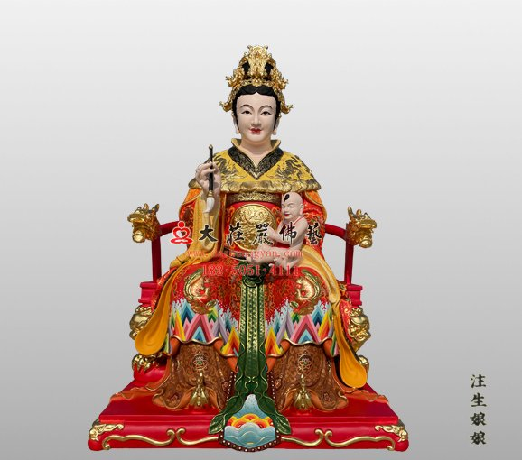 注生娘娘铜雕神像 注生妈神像 铜雕送子娘娘神像 成育之神注生娘娘神像定制