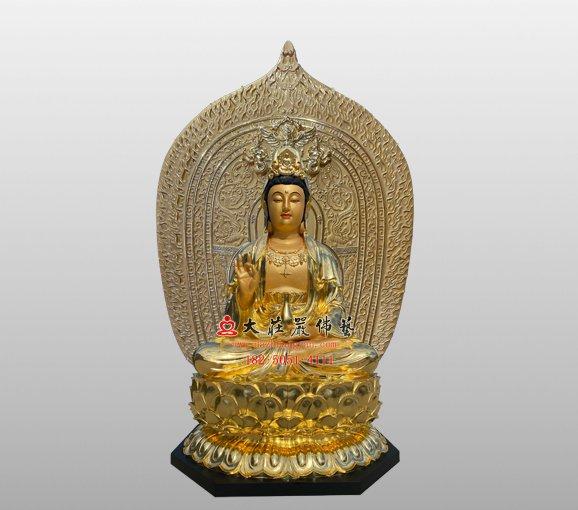 观音菩萨铜佛像 西方三圣观世音菩萨雕塑 观音佛像定制