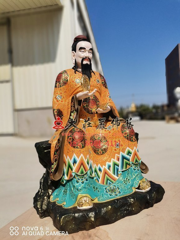 杨仙师铜雕神像左侧照