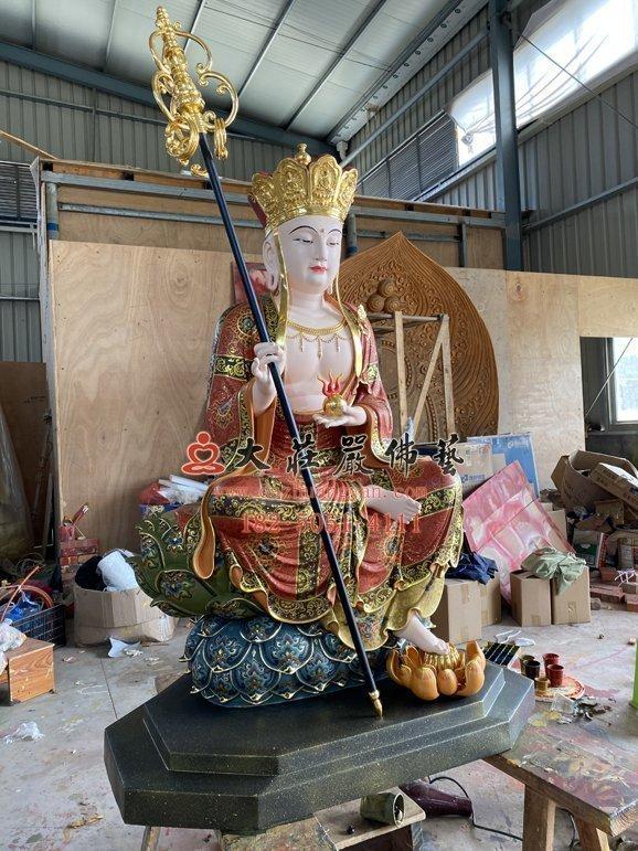 地藏王菩萨铜佛像现场实拍图