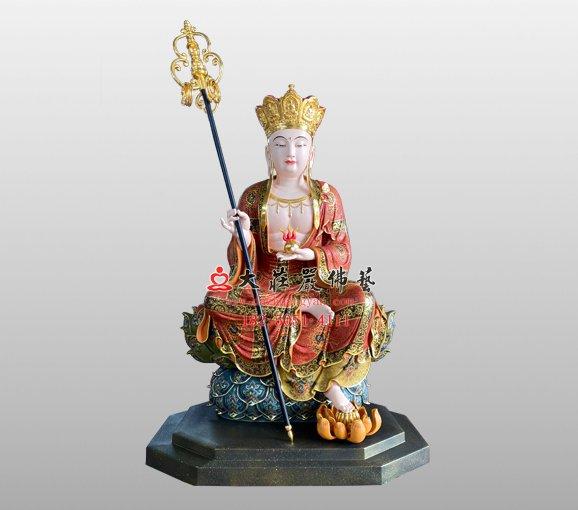 地藏菩萨铜佛像 地藏王菩萨 大愿地藏王菩萨铜佛像定制