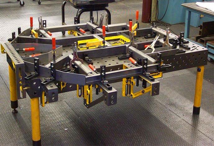 多孔三维柔性焊接平台