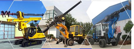 山東海譽輪式旋挖機與履帶式機鎖桿旋挖鉆機產品品類展示
