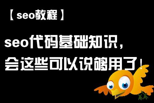 seo代码基础_seo代码基础有哪些_seo代码基础知识_seo基础代码_seo教程
