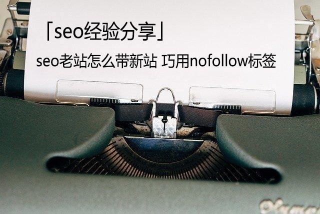 「seo经验分享」seo老站怎么带新站 巧用nofollow标签