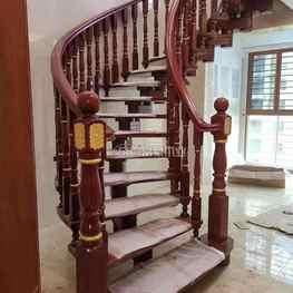 富豪楼梯榉木旋转楼梯扶手