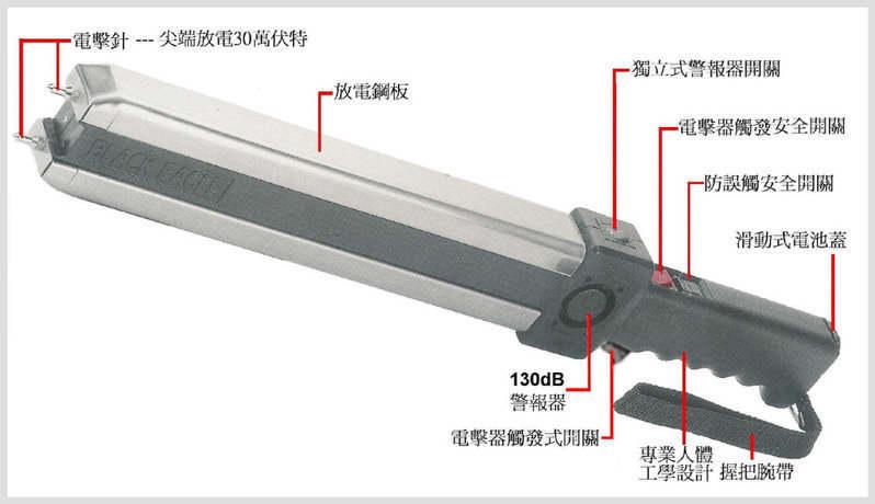 台湾欧仕达黑鹰BE999XL高压电击器