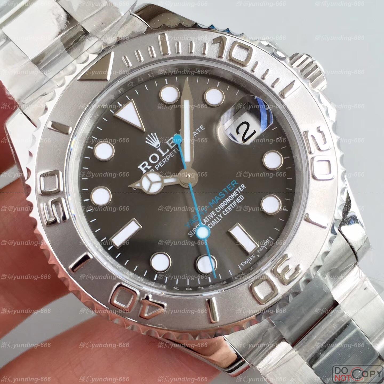 904钢AR厂劳力士37mm灰游艇268622女款复刻手表评测