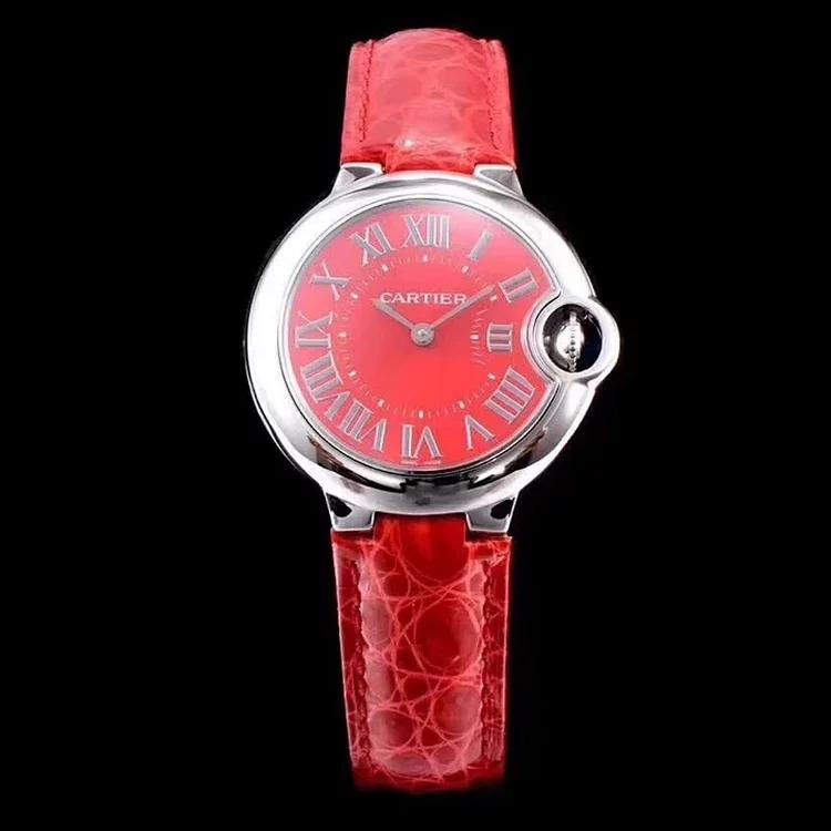 V6厂卡地亚蓝气球33石英表,评测女款33毫米版本腕表