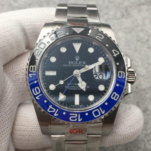 N厂手表V8版劳力士格林尼治蓝黑圈,904钢 复刻3186机芯