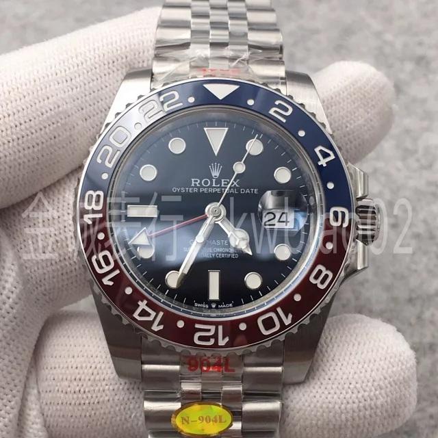 N厂手表格林尼治可乐圈五珠表带,904钢3285机芯