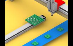 线性模组在物件整列靠齐装置中应用