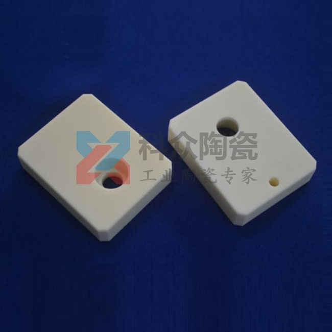 高纯氧化铝精密陶瓷块盲孔加工