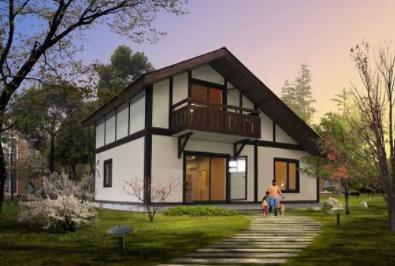 20左右造价的双层轻钢别墅户型设计图