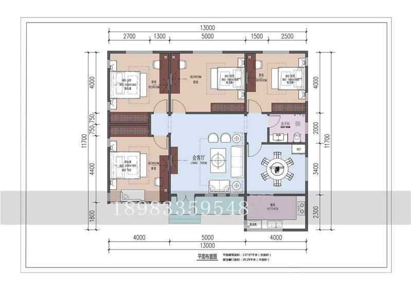 15w农村一层轻钢别墅设计图