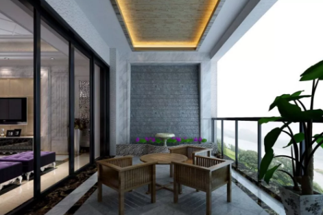 轻钢别墅悬挑式阳台