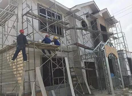 轻钢别墅施工