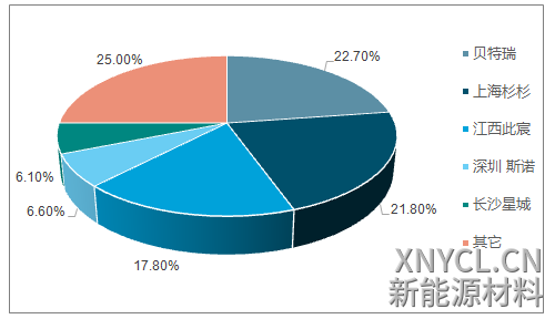 2017年负极 CR5 情况(%)