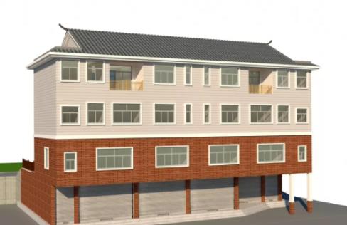 贵州织金县4层商住两用轻钢房屋工程案例