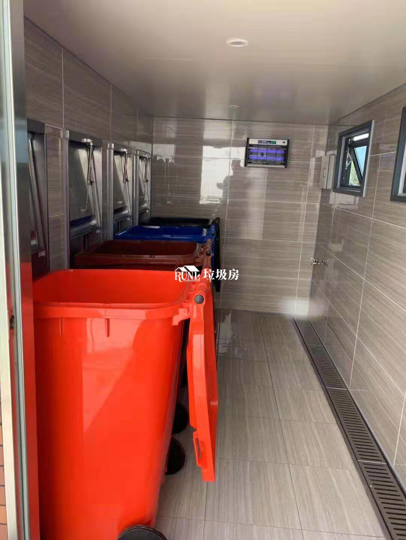 医院垃圾分类采集房内部