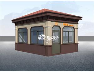 钢结构吸烟亭