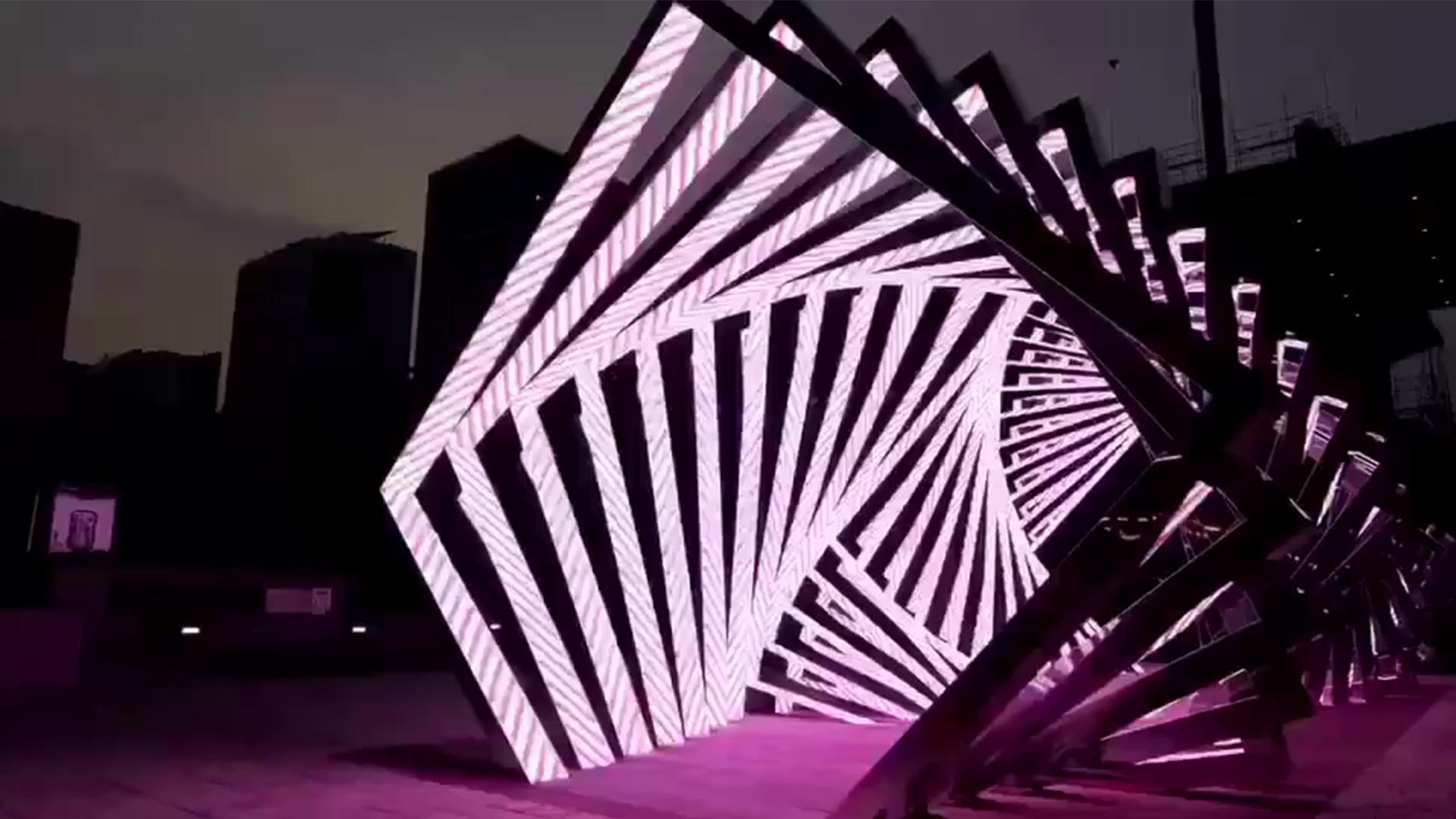 韩国户外时光隧道LED显示屏