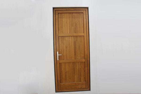 铜包木电动密码门