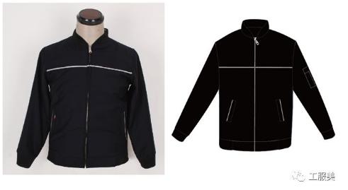 黑色工装夹克
