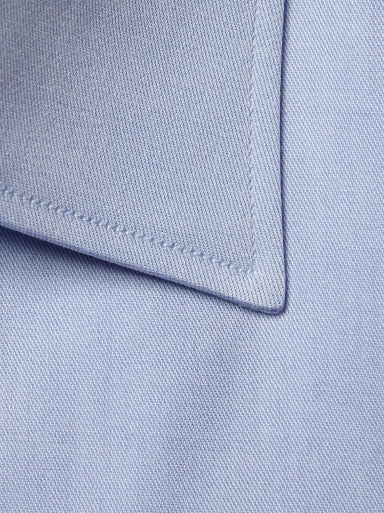 男士藍色純棉襯衫領型