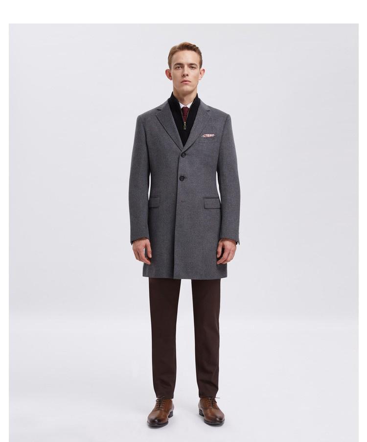 重慶男士商務灰色大衣定制