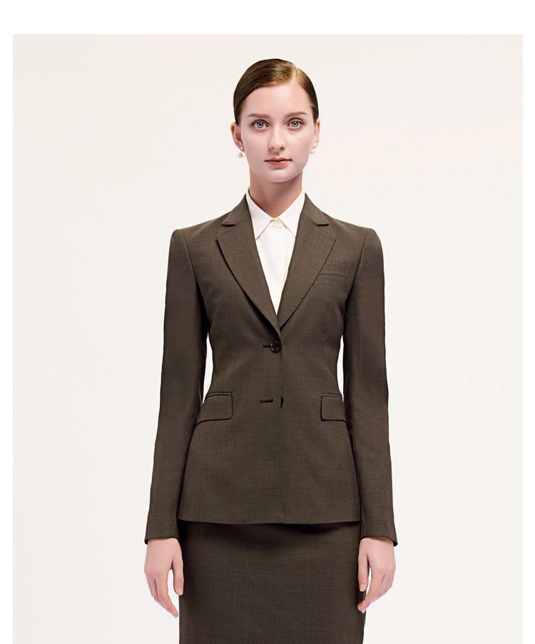 女士棕色时尚西服套装定制
